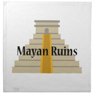 Ruinas mayas servilletas