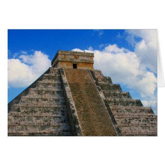 ruinas mayas tarjeta de felicitación