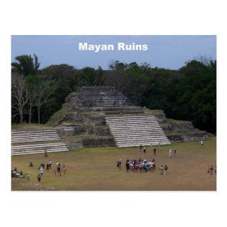 Ruinas mayas tarjeta postal