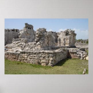 Ruinas mayas, Tulum, México Póster