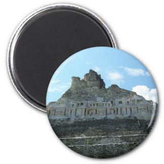 Ruinas mayas - xunantunich Belice Imán Redondo 5 Cm