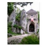 Ruinas medievales del castillo tarjeta postal