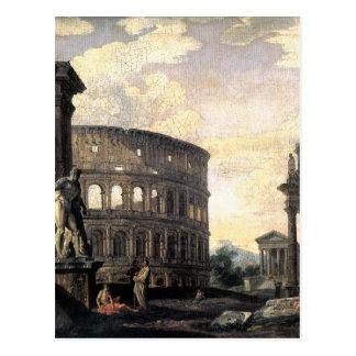 Ruinas romanas antiguas de Juan Pablo Panini Tarjeta Postal