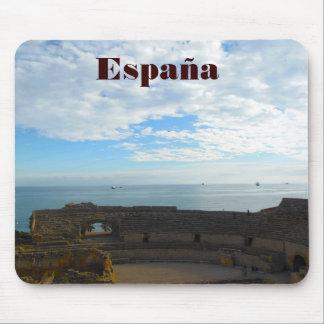 Ruinas romanas en la costa costa española tapete de ratón