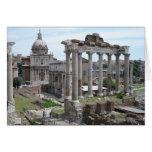 Ruinas romanas felicitación