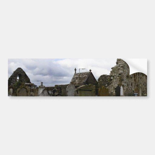 ruined abbey bumper sticker