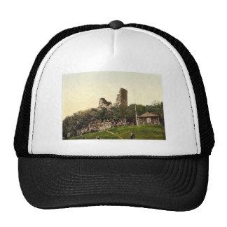 Ruined castle, Rothenburg, Hartz, Germany rare Pho Mesh Hats