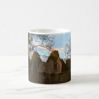 Ruined Church at Sunset Classic White Coffee Mug