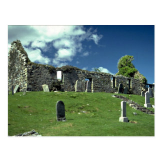 Ruined church, Isle of Skye, Scotland Postcard