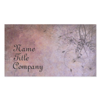 Ruined Floral Grunge Double-Sided Standard Business Cards (Pack Of 100)