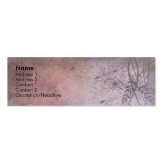 Ruined Floral Grunge Double-Sided Mini Business Cards (Pack Of 20)
