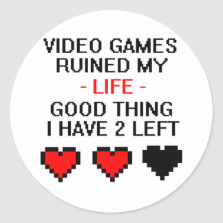 Ruined My Life, Style 2 Classic Round Sticker