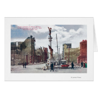 Ruins Along Mason Street, Union Square Statute Card