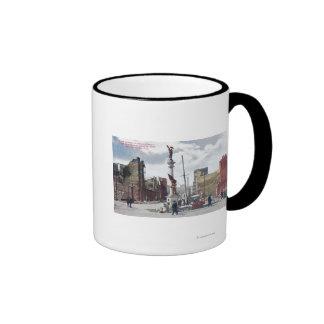Ruins Along Mason Street, Union Square Statute Ringer Coffee Mug