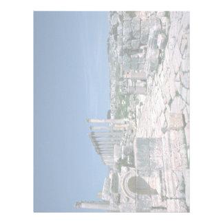 Ruins along South Colonnade Street, Jarash, Jordan Custom Letterhead