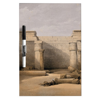 Ruins at Medinet Abou, Thebes, Egypt Dry-Erase Board