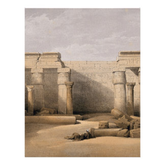 Ruins at Medinet Abou, Thebes, Egypt Letterhead