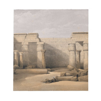 Ruins at Medinet Abou, Thebes, Egypt Notepad