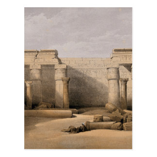 Ruins at Medinet Abou, Thebes, Egypt Postcard