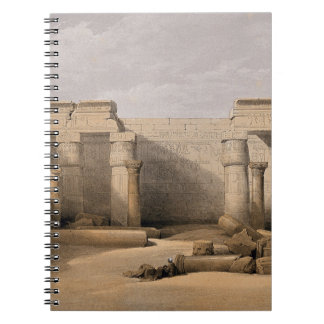 Ruins at Medinet Abou, Thebes, Egypt Spiral Notebook