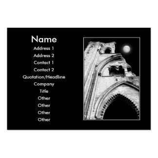 Ruins at Night Black and White Business Card Templates