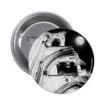 Ruins at Night. Black and White. 2 Inch Round Button