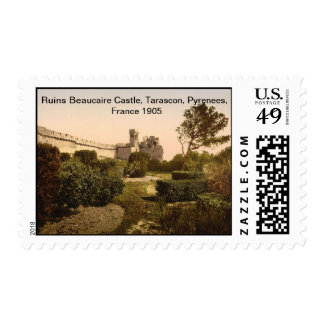 Ruins Beaucaire Castle,Tarascon, Pyrenees, France Postage
