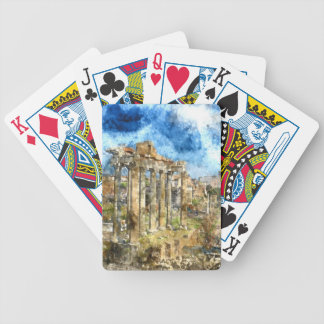 Ruins in Rome Bicycle Playing Cards