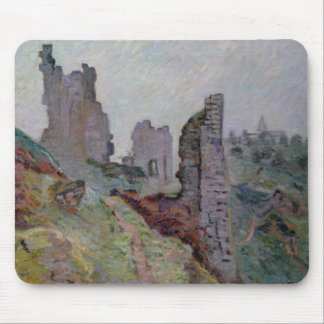 Ruins in the Fog at Crozant, 1894 (oil on canvas) Mouse Pad