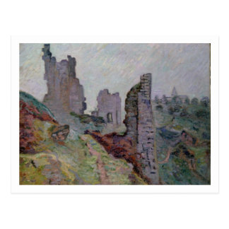 Ruins in the Fog at Crozant, 1894 (oil on canvas) Postcard
