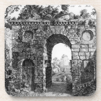 Ruins in the middle of Kew Gardens, from 'The Gard Beverage Coasters