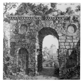 Ruins in the middle of Kew Gardens, from 'The Gard Large Square Tile