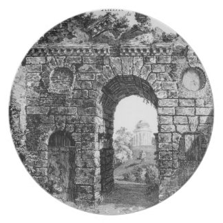 Ruins in the middle of Kew Gardens, from 'The Gard Melamine Plate