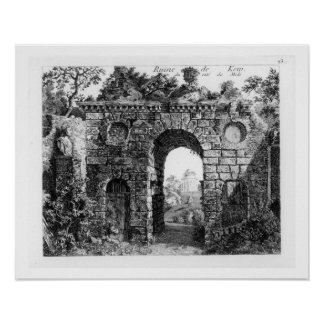 Ruins in the middle of Kew Gardens, from 'The Gard Poster