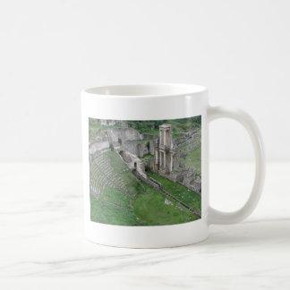 Ruins of a antique roman amphitheater coffee mug