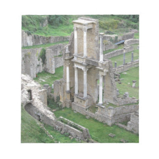 Ruins of a antique roman amphitheater memo notepad