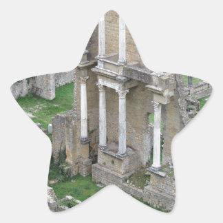 Ruins of a antique roman amphitheater star sticker