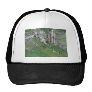 Ruins of a antique roman amphitheater trucker hat