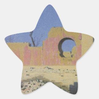 Ruins of a Theater in Chuguchak by Vasily Vereshch Star Sticker