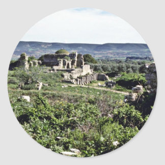 Ruins Of Ancient Greek City Of Miletus - Milet Classic Round Sticker