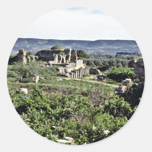 Ruins Of Ancient Greek City Of Miletus - Milet Round Sticker