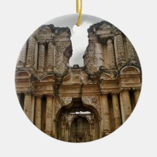 Ruins of Antigua Guatemala Christmas Ornaments