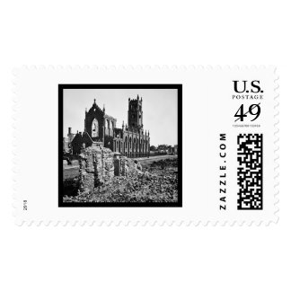 Ruins of Cathedral St. John in Charleston 1865 Stamp