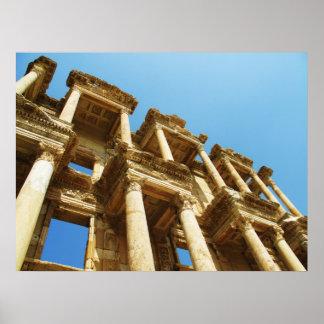 Ruins of Celsus Library, Ephesus, Turkey  POSTER