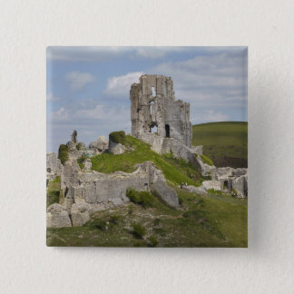 Ruins of Corfe Castle, near Wareham, Dorset, Button