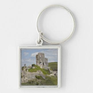 Ruins of Corfe Castle, near Wareham, Dorset, Keychain