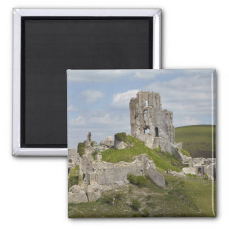 Ruins of Corfe Castle, near Wareham, Dorset, Magnets