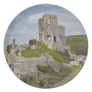 Ruins of Corfe Castle, near Wareham, Dorset, Plate