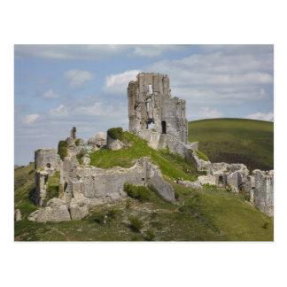 Ruins of Corfe Castle, near Wareham, Dorset, Postcard