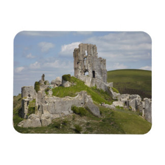 Ruins of Corfe Castle, near Wareham, Dorset, Flexible Magnet